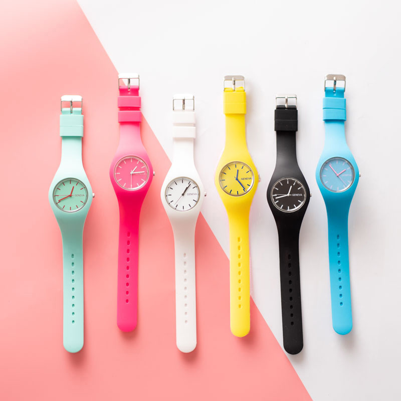 Silicone Jelly Girls Watches Boy Sport Quartz Wristwatch Fashion Casual Crystal Ladies Watch Children Clock Reloj Mujer 6.6