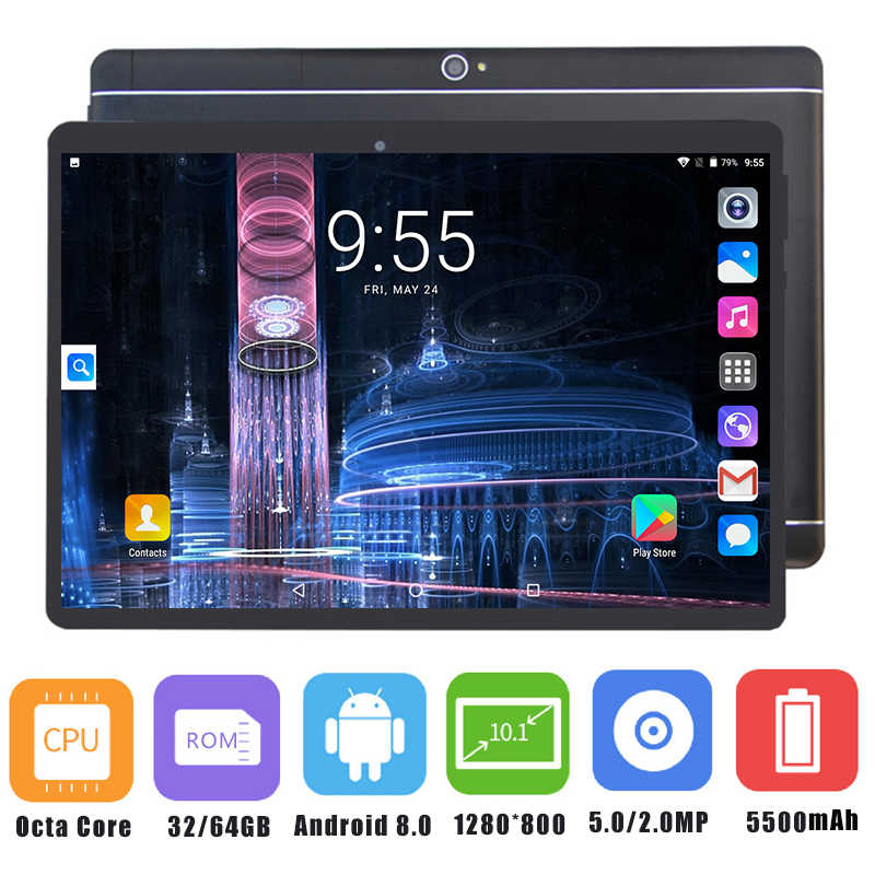 2019 חדש Google Play אנדרואיד 8.0 OS 10 אינץ tablet אוקטה Core 4GB RAM 64GB ROM 1280*800 IPS GPS WIFI ילדי טבליות 10 10.1