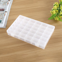 1 PC New Plastic Tool Box Case 36 Cell Jewelry Adjustable Organizer Storage Beads Containers Makeup