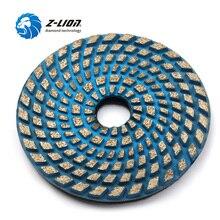 """Z-LION """" шлифовальный диск для Бетонного Пола, Спеченный металлический скреп, Полировочная площадка 100 мм, сухая влажная полировка для бетона, абразивный диск"""