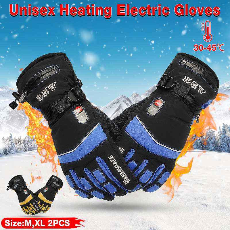 Winter Warm Motorcycle Gloves Electric Battery Powered Heated Gloves for Women Men Waterproof Warmer Racing Cycling Gloves