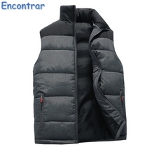 Encontrar Winter Padded Vest Men Jacket Sleeveless Men's Vest Jacket Coat Plus Sizes Thick Vest Wasitcoat Male Warm ,QA432