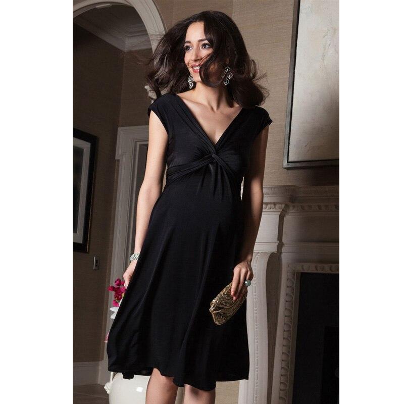 ФОТО Easter V-Neck Short Sleeve Vest Vestidos for Pregnancy Summer Elegant Women Evening Party Dress Knee Length Maternity Dresses