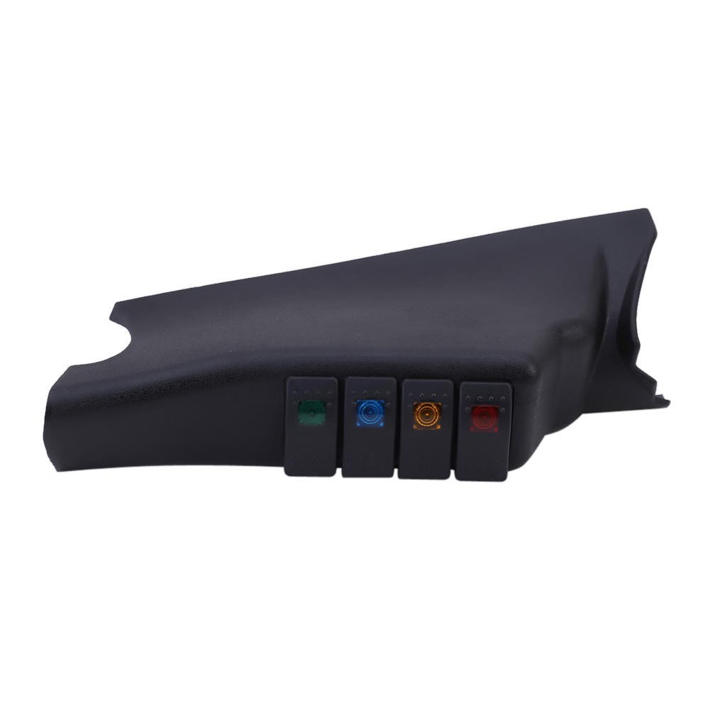 Black Car Left A Pillar 4 Rocker Switch Pod Panel Kit For Jeep Wrangler 07 Car Auto Boat Marine LED Rocker Switch Panel Circuit