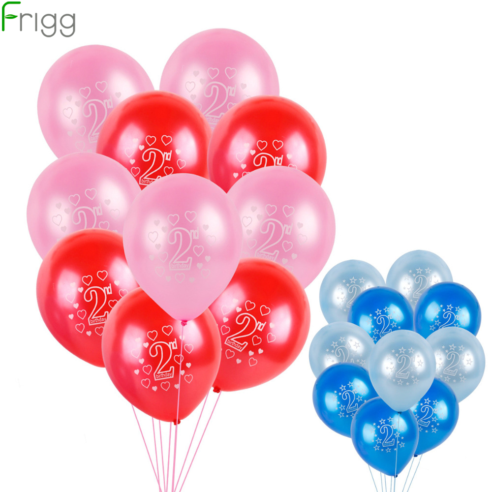 """Blue Pink Mix Colour Boy Girl 1st Birthday Party 12/"""" Latex Printed Balloons"""