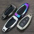 Цинковый сплав Кожаный Автомобильный ключ умный пульт для ключей держатель для Ford Fiesta Focus 3 4 MK3 MK4 Mondeo Ecosport Kuga Focus ST сумка для ключей