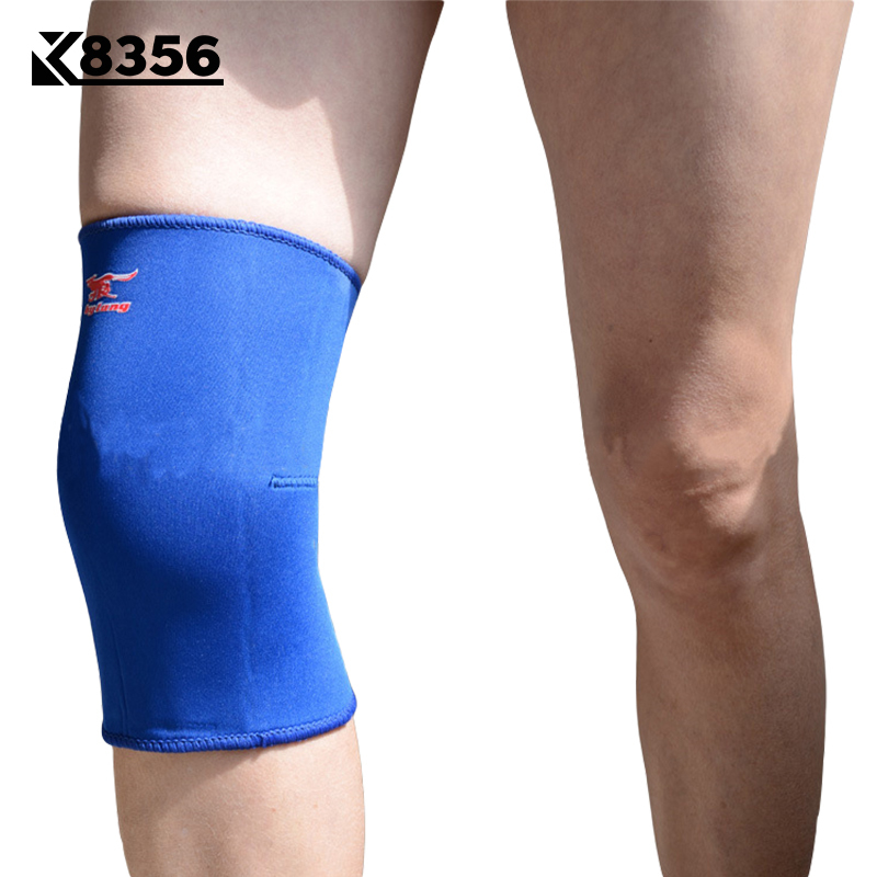 K8356 Breathable Knee Pads Basketball Volleyball Fitness Knee Support Warm Knee Sleeves Sports Safety Knee Protect Blue 1Pcs