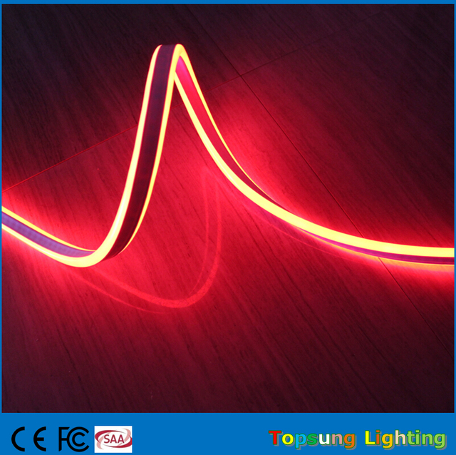 50m 110v Outdoor Neon Wire Rope Cable Strip Waterproof Mini Led Decorations Lighting S Double Sided 8x18mm For Building