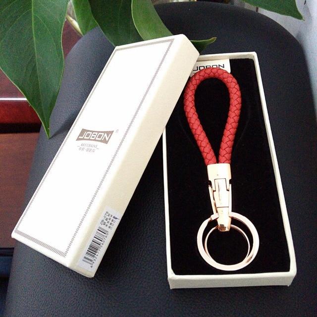 M B Brand Fashion Women Hand Knitted Geuine Leather Key Ring For Ferrari  Key Chain For Lamborghini Key Holder For Porsche a72143fbab