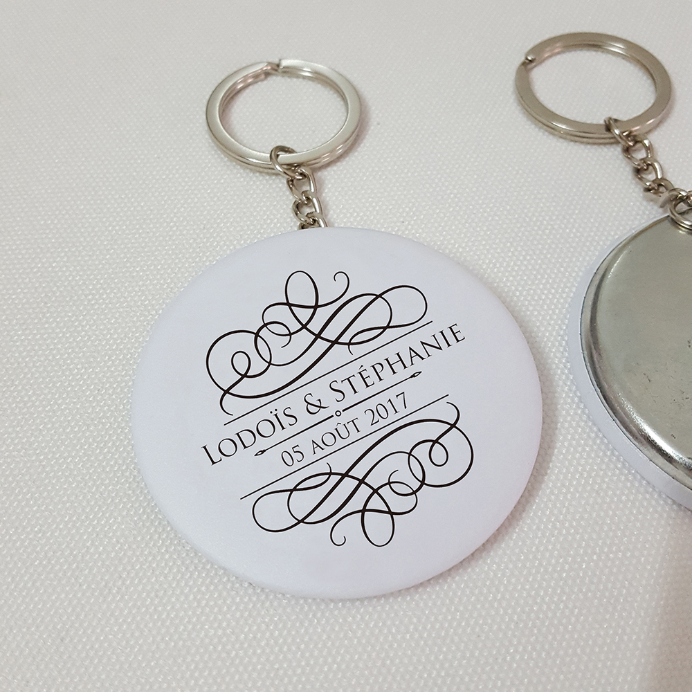 50x Personalized Bottle Opener Keychain Wedding Favors Custom ...
