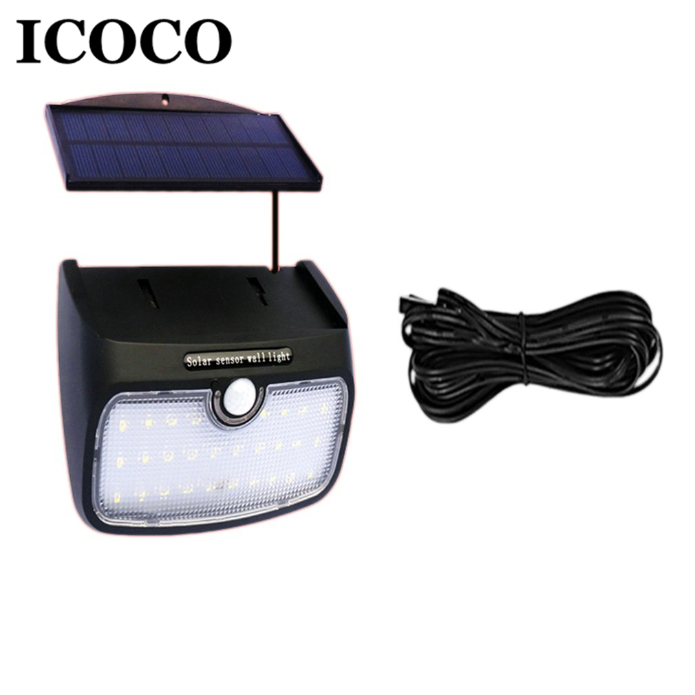 ICOCO LED Solar Power Sound Control+Human Body Motion Sensor Activated Separable Wall Light Outdoor Indoor Security Night LightICOCO LED Solar Power Sound Control+Human Body Motion Sensor Activated Separable Wall Light Outdoor Indoor Security Night Light