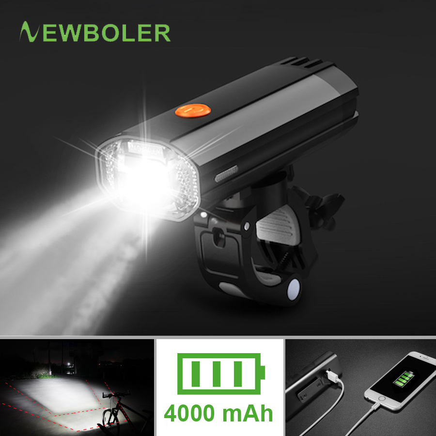 NEWBOLER 600 Lumens Bicycle Light MTB Bike Headlight LED Taillight USB Rechargeable Flashlight Cycling Lantern For Bicycle Lamp