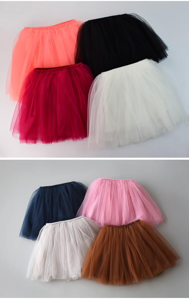 Baby Girls Tutu Skirts Pettiskirt Kids Tulle Skirt Children Underskirt Ballet Dance Petticoat Party Miniskirt Clothes Wholesale (2)