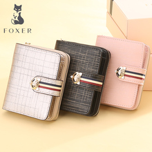 купить FOXER Brand Women Split Leather Wallets Limited Edition 3PCS Wallet Set Coin Purse Girl Fashion High Quality Short Wallet по цене 3801.38 рублей
