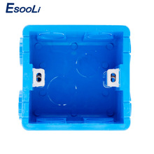 Esooli Wall Mounting Box 86 Internal Cassette White Back Box For 86mm*86mm Standard Wall Touch Switch and Socket With USB