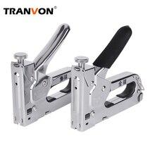 Tranvon пневматический молоток клепальный молоток степлер мебель ручной обрамление гвоздя ружье комплект для деревянная отделка 3-в-1 степлер двери мастер заклепочный инструмент