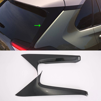 Car Accessories Exterior ABS Chrome Rear Window Side Triangle Corner Cover Trim For Toyota RAV4 2019 Adventure Car-styling