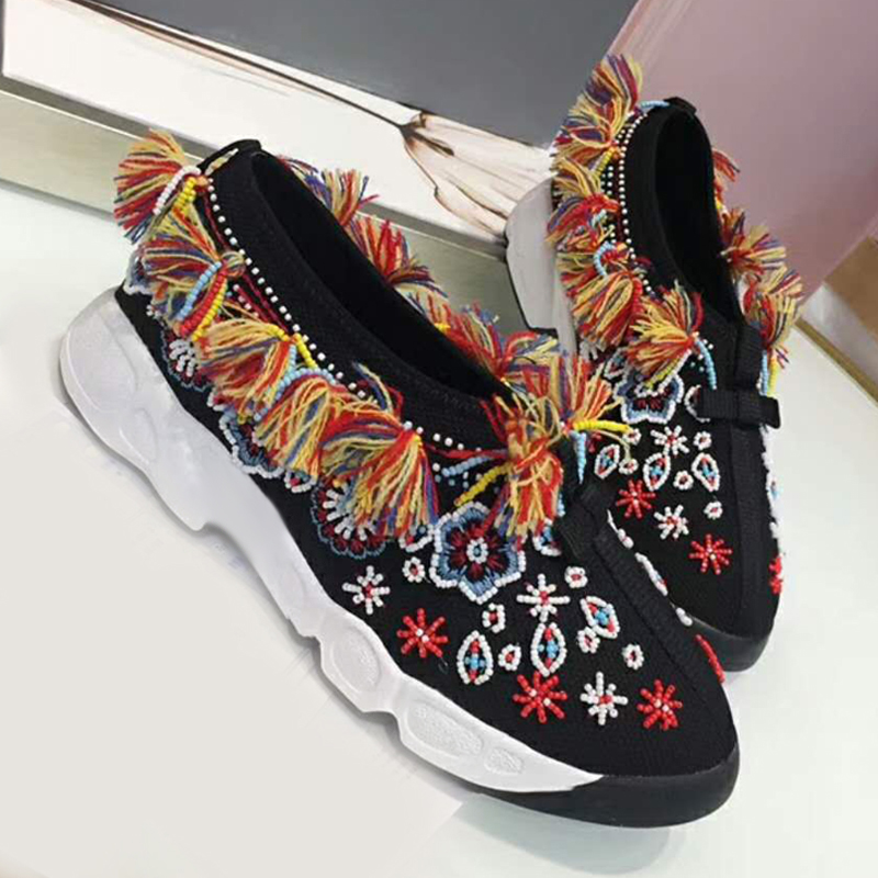 Appartements Chaude New Bling Show Dames As Sneakers Confortables Femmes Broder Casual Mode Couleur Mixte as Zapatos Feminino Mujer Chaussures Show Sapato wnvpaAxf