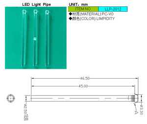Image 2 - 100pc色45ミリメートルライトパイプのための2.5ミリメートルledダイオードledチューブランプシェード