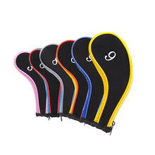10 PCS Golf Club Head Cover Iron Putter Headcover Protect Set Number Printed with Zipper Golf Club Accessories(China)