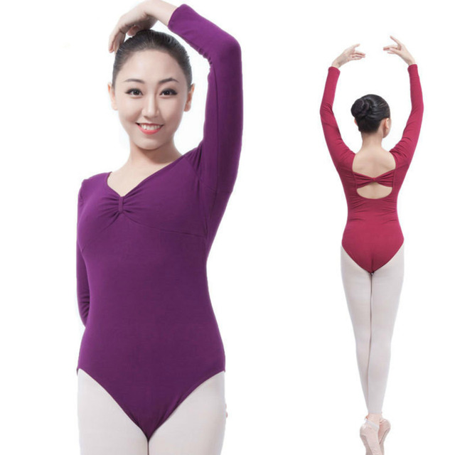 d70fce1fe sexy black leotard for dance wear adult women long sleeve lace ...