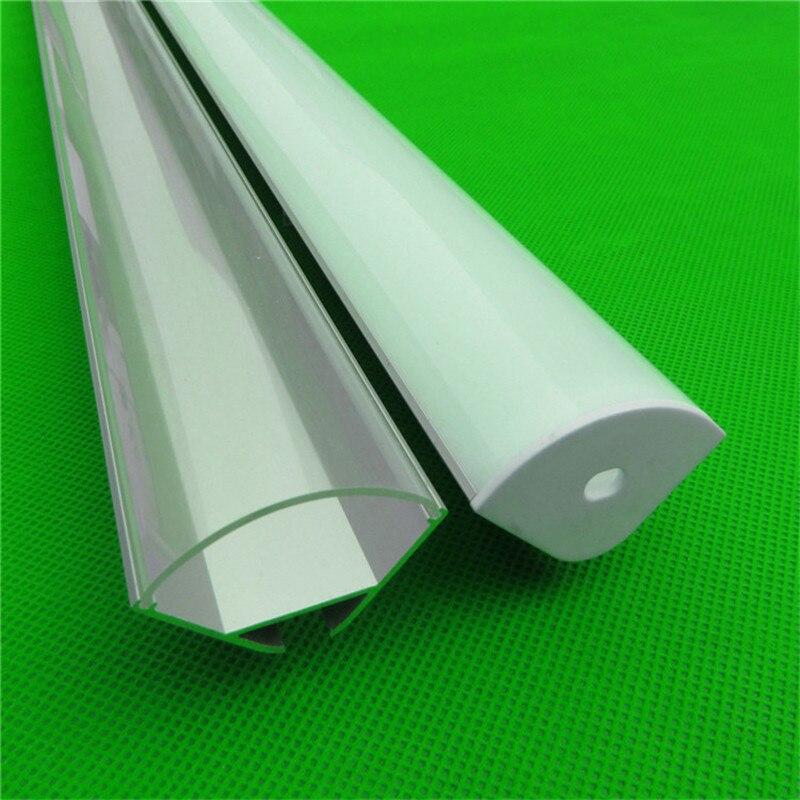 2-10pcs/lot 0.5m/pc 45 Degree Corner Aluminum Profile For Double Row Led Strip,20mm Pcb Bar Light Housing,led Semiround Channel