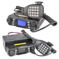 dual band vhf uhf Ham נייד רדיו משדר VHF UHF Mobile Radio Dual Band Quad המתנה משדר רכב עם תכנות Cable & Software (2)
