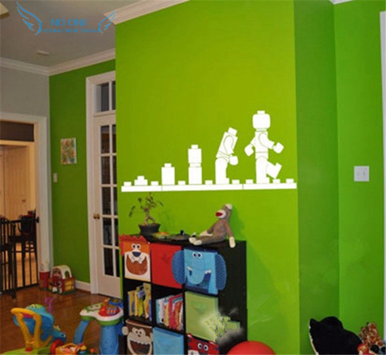 Free Shipping LEGO EVOLUTION Decal WALL STICKER ,Lego Wall Art Vinyl  Stencil Kids Room Cartoon Decor In Wall Stickers From Home U0026 Garden On  Aliexpress.com ...