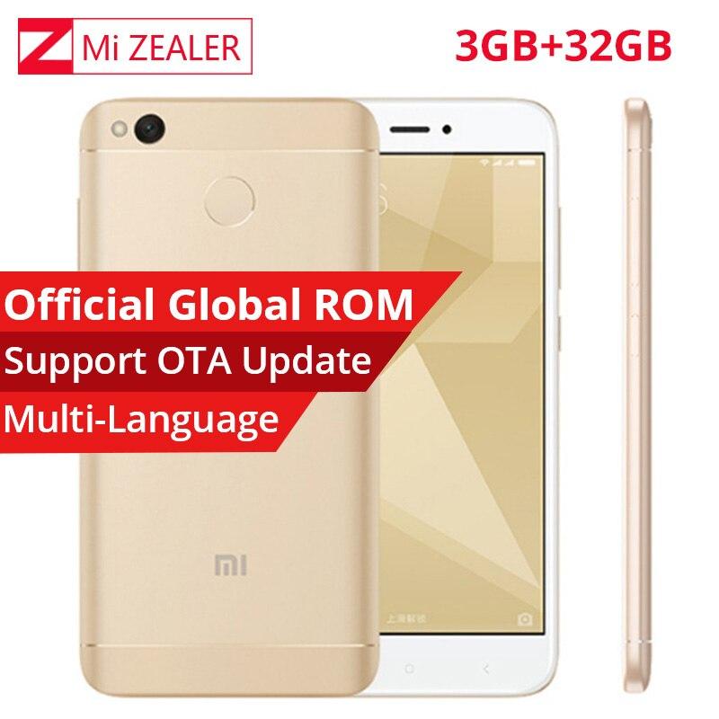 """Оригинальный Xiaomi Redmi 4X Pro 3 ГБ Оперативная память 32 ГБ Встроенная память мобильного телефона Snapdragon 435 Octa Core 5.0 """"4100 мАч FDD LTE 4 г Miui 8 Глобальный Встроенная память"""