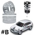 (Tamanho B) 2 Pcs Atacado Especial Tipo B Car Auto Shock Absorber Primavera Poder Coxim Amortecedor Para Carro, de uretano, Auto Peças