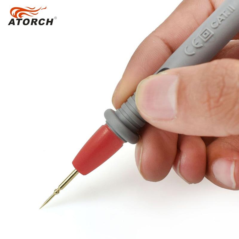 Cavi di test ATORCH 1000V 20A Penna multimetro digitale Aghi in rame - Strumenti di misura - Fotografia 2