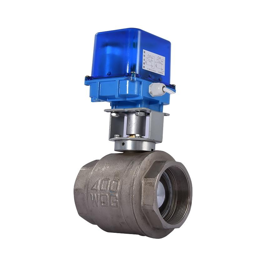 DN80 robinet à tournant sphérique électrique en alliage de cuivre petit robinet à tournant sphérique électrique/actionneur de vanne 12 V/24 V/220 V 0.6Mpa-2.5Mpa-0 ~ 70 degrés offre spéciale