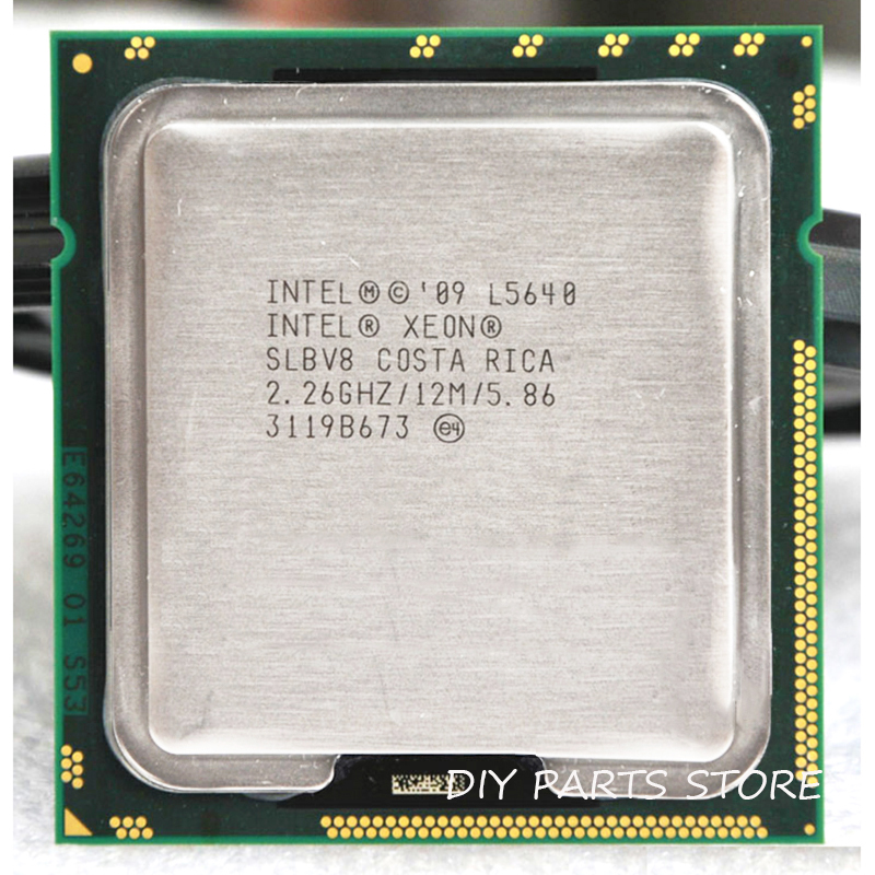 INTEL XONE L5640 CPU INTEL L5640 PROCESSOR SEI core 2.26 MHZ LeveL2 12M WORK FOR lga 1366 tavola di montaggio