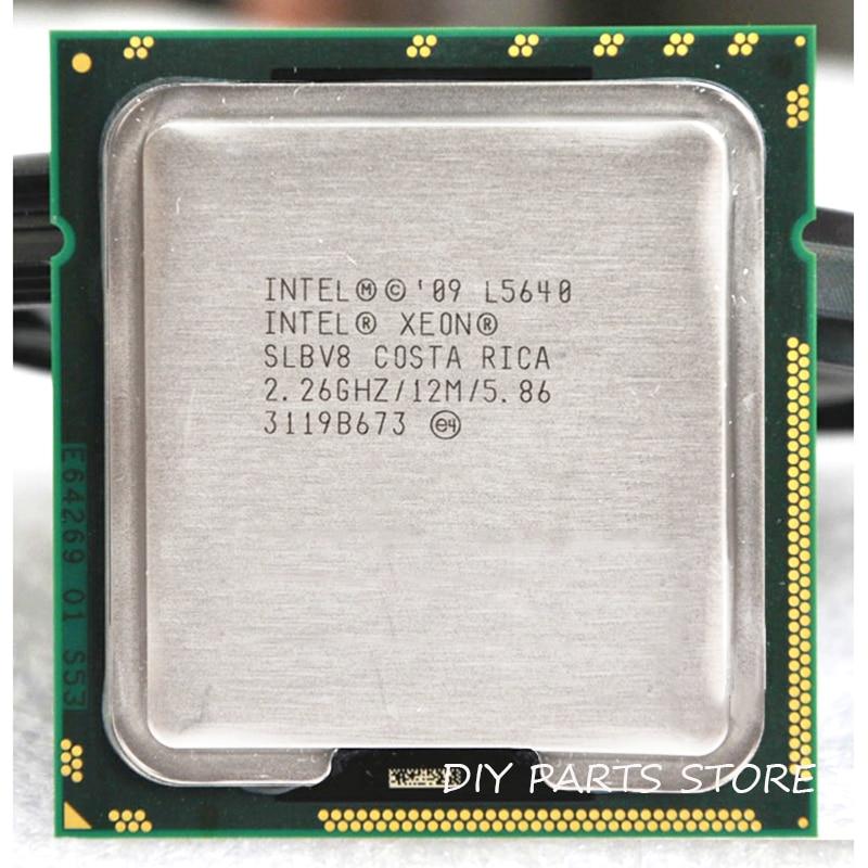 INTEL XONE L5640 CPU INTEL L5640 PROCESSOR SIX Core 2.26 MHZ LeveL2 12M  WORK  FOR Lga 1366 Montherboard