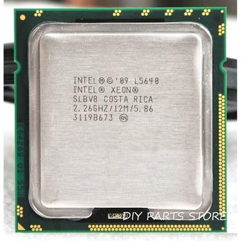 INTEL XONE L5640 CPU INTEL L5640 procesador seis core 2,26 MHZ LeveL2 12M para lga 1366 montherboard
