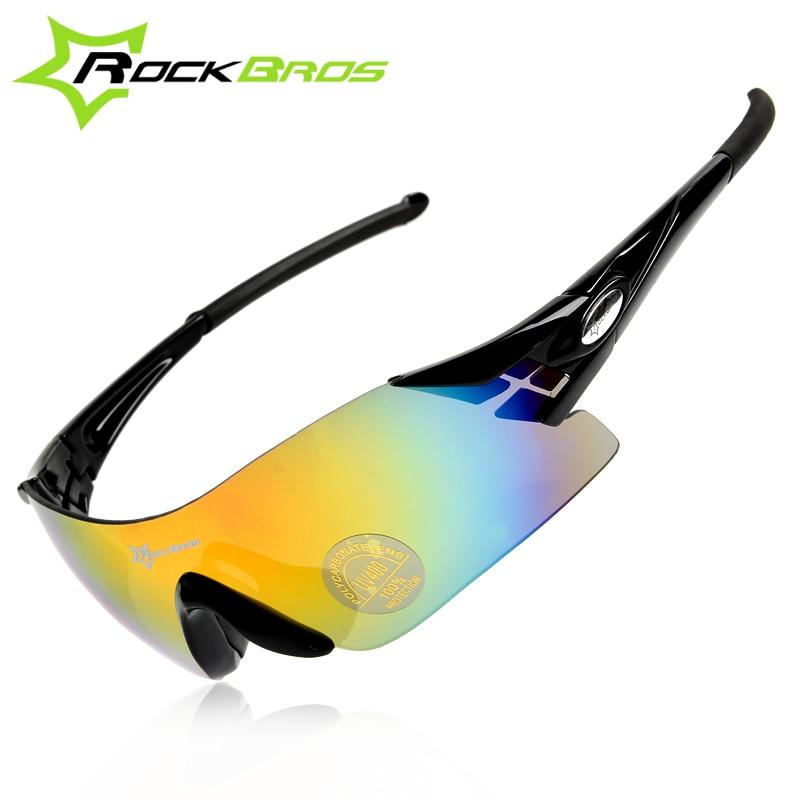 6c516548ae Rockbros hombres deportes al aire libre polarizadas ciclismo gafas de sol  Uv400 montaña ciclismo gafas bicicleta gafas 5 lente senderismo