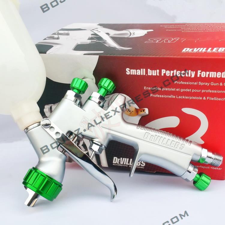 Livraison gratuite MINI Réparation Pistolet SRi Pro 1.2mm Alimentation Par Gravité HVLP Peinture Pulvérisateur avec 250 ml tasse