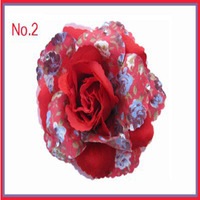 50 BLESSING Girls Clip Hair Accessories Retail Wholesale Rose Lotus Chrysanthemum Flower78