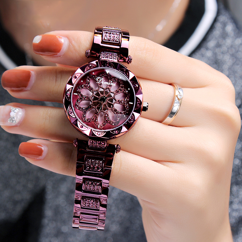 Fashion Luxury Women Watches Diamond Lady Watch Quartz Wrist Watch Stainless Steel Gold Ladies Watches Dropshipping
