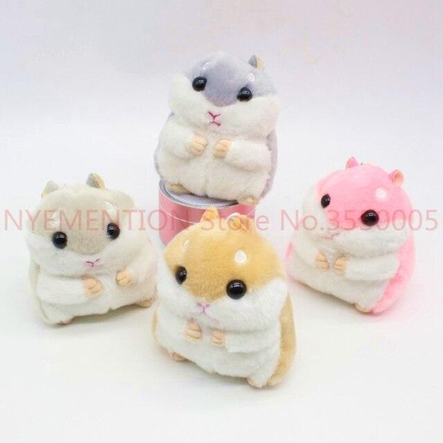 Hamster dos desenhos animados Boneca de Pelúcia Saco Cadeia Mulher Anel de Prata Encantos Chave Bugiganga Chaveiro Mouse Toy Animal Presente Do Partido Pom Pom 200 pcs