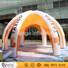 Индивидуальные 5 м Dia надувные паук купольная палатка китайские производители надувные гараж кабина с вентилятором Игрушка палатки