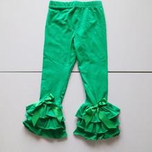 green christmas cotton leggings for girls ruched pants standard size panties santan holiday pant kid wholesale