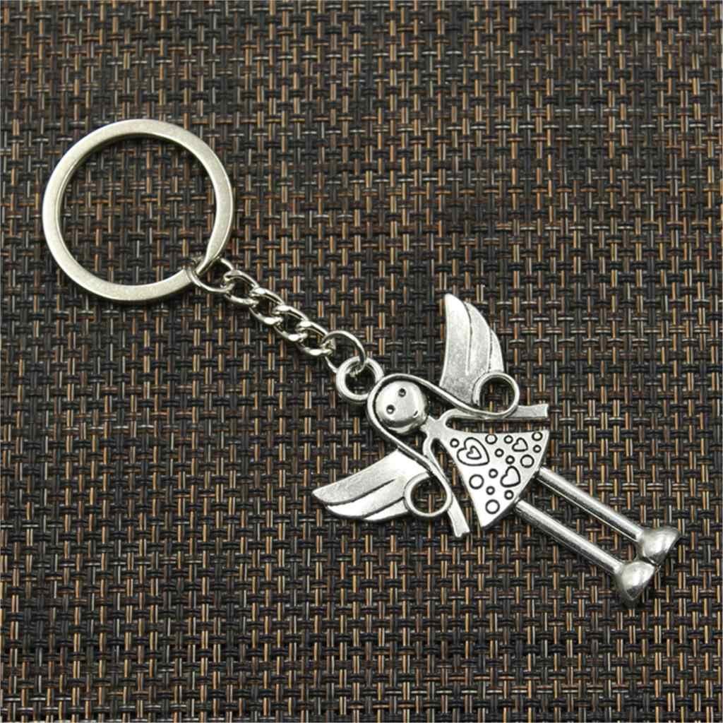 Novo chaveiro 58x38mm anjo pingentes diy carro chaveiro titular chaveiro lembrança jóias presente