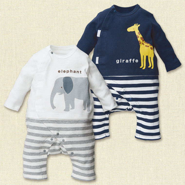 HTB15btRKFXXXXbvXVXXq6xXFXXXw - 100% Cotton Baby rompers legged long sleeves baby clothing newborn cartoon Elephan Giraffe baby boy clothes girls roupas bebes