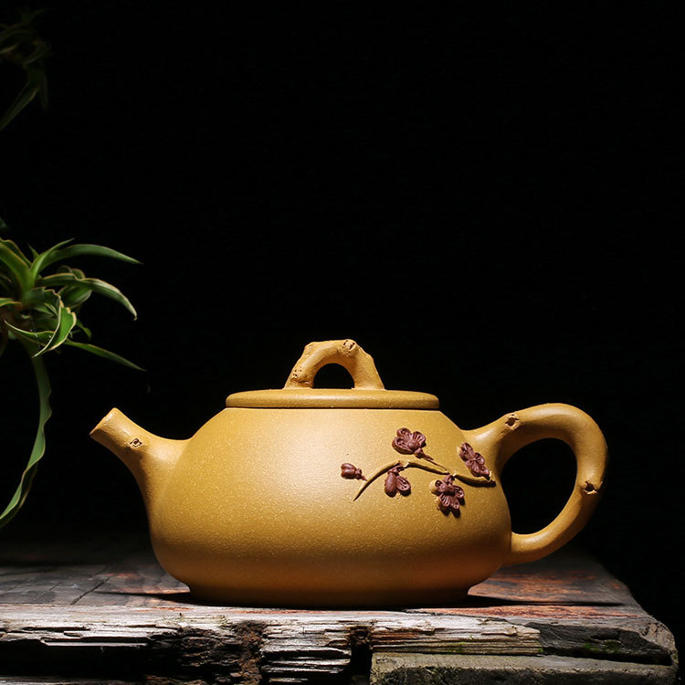 Free Shipping 280ML New Arrival Purple Clay Plum blossom Teapot Yixing Handmade Kung Fu Zisha Tea Pot Gift BOXFree Shipping 280ML New Arrival Purple Clay Plum blossom Teapot Yixing Handmade Kung Fu Zisha Tea Pot Gift BOX