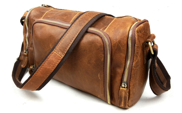 High Quality Vintage Genuine Leather Bag Men Messenger Bags Crazy Horse Leather Shoulder Bags Casual Men's Travel Bags #VP-B349 high quality casual men bag
