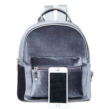 Backpack Soft Velvet Small Travel Women Backpacks