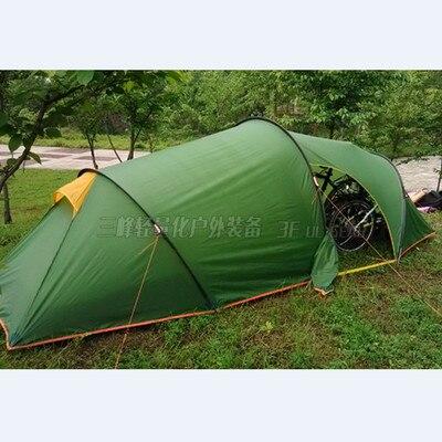 3f ul gear 2 personnes 2 pièces 4 saisons Tunnel tente 15D silicium camping en plein air randonnée escalade ultra-léger grand espace 210 T tentes - 3