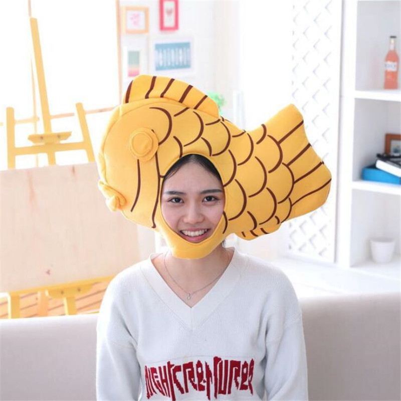 Animal Bream Snapper Taiyaki Cosplay Costumes Accessories Hats Plush Toy Adult Children Creative Fancy Hat Cap Photo Props