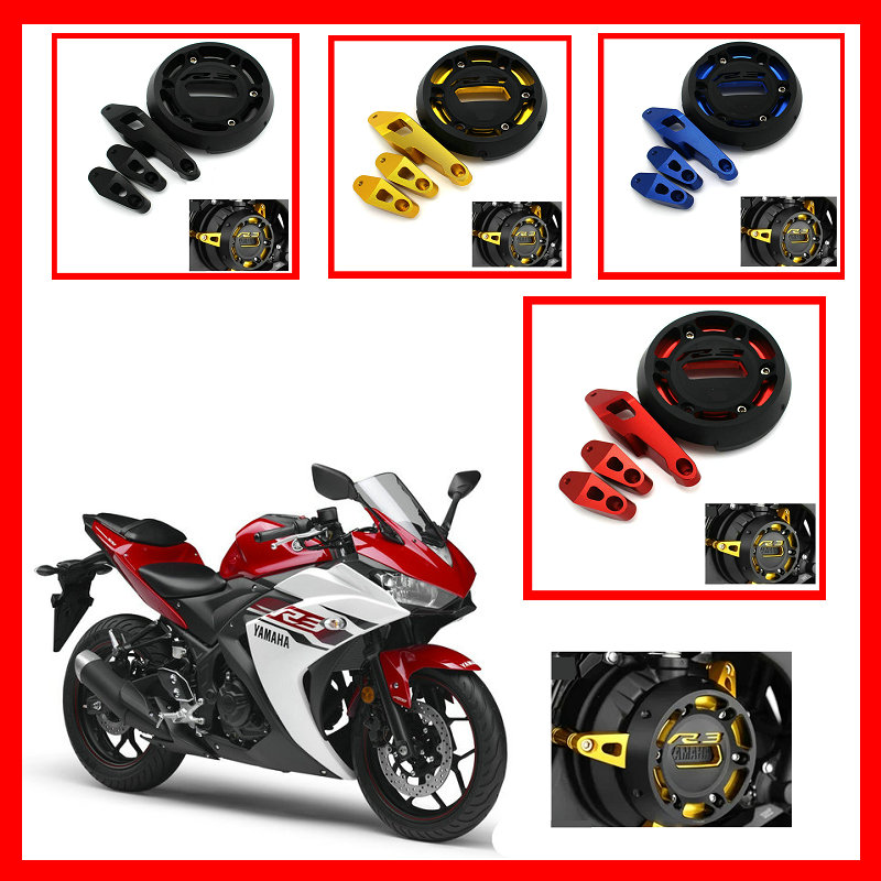 все цены на volero High Quality Motorcycle Protection cnc aluminum alloy engine stator motor cover protection cover for yamaha r3 2013-2015 онлайн